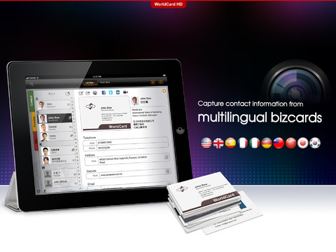 Worldcard hd the ultimate business card ipad app fanappic reheart Image collections