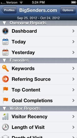 Analytics App for iPhone