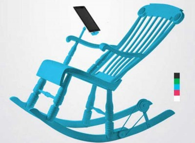 iPad charging rocking chair