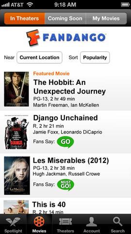 fandago iPhone App Review