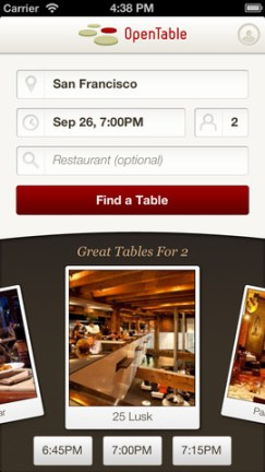 open table iPhone App Review
