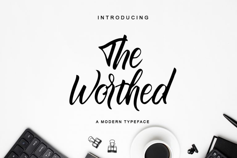 Preview image of The Worthed / Bold Handwritten Font