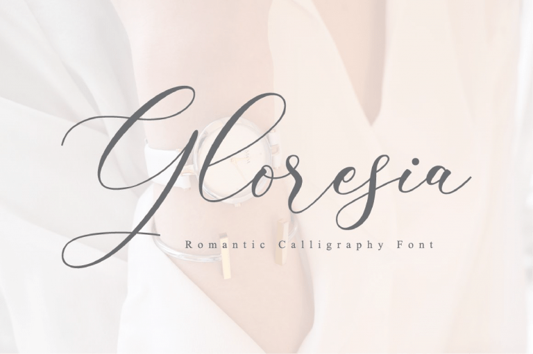 Preview image of Gloresia Modern Calligraphy Script