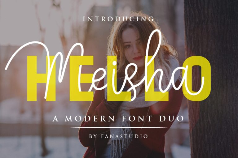 Preview image of Hello Meisha a Modern Font Duo