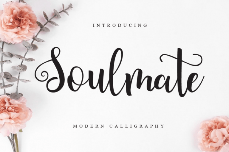 Preview image of Soulmate Script Font