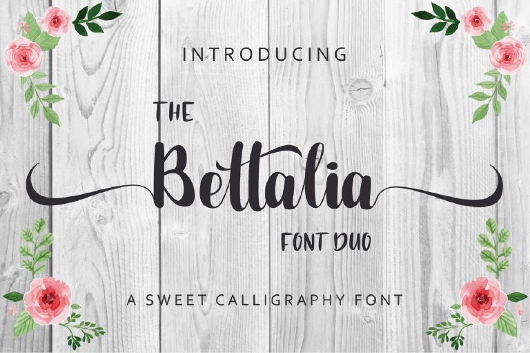 Preview image of The Bettalia Font Duo