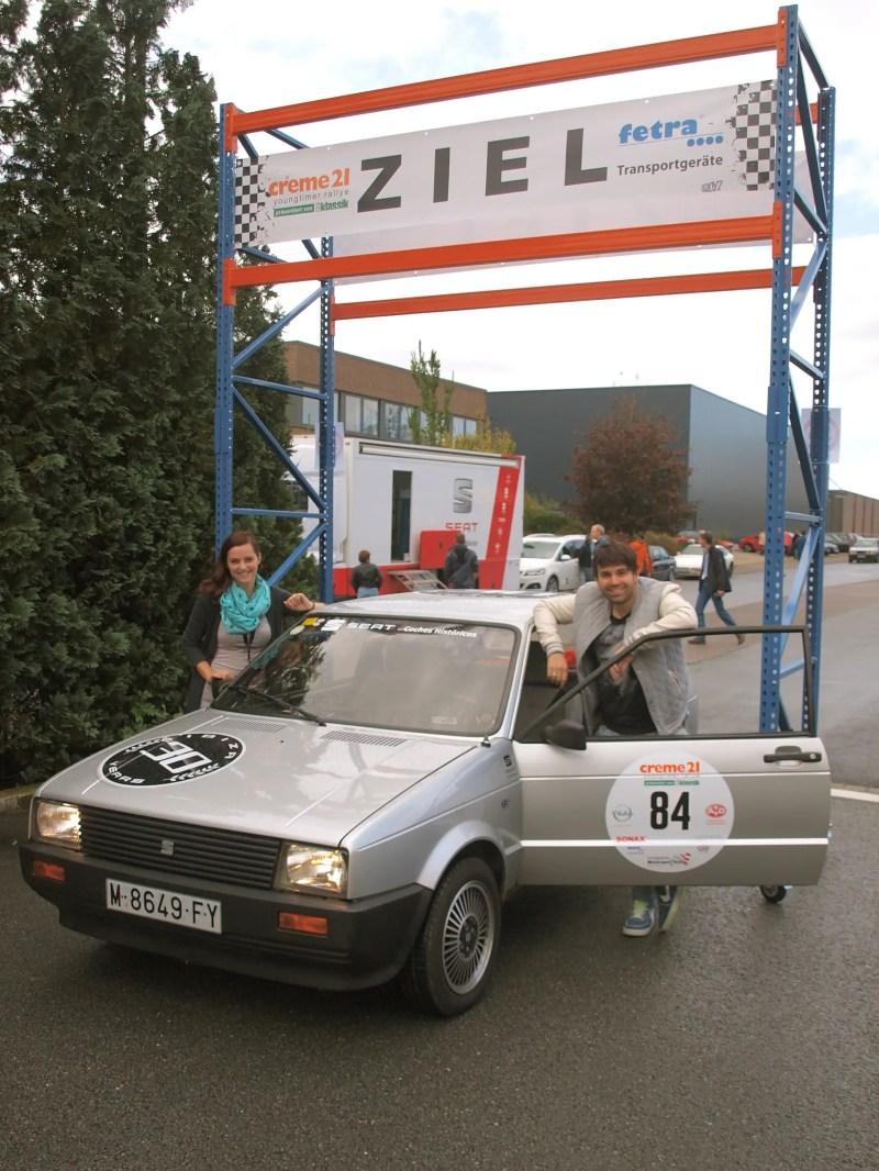 Stolzer 66. Platz mit dem SEAT Ibiza ,15 GLX bei der Creme21 Youngtimer Rallye