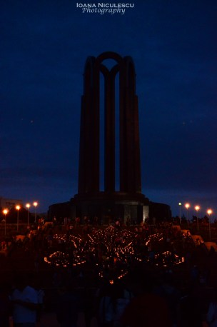 The main monument in the park, above every light.