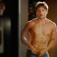 Brett Chukerman as Levi Sparks shirtless in The Curiosity of Chance