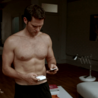 "Steven Pasquale as Paul Keller shirtless in Over/Under 1x01 ""Pilot"""