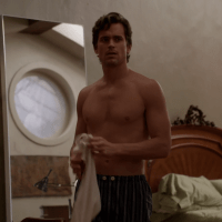 "Matt Bomer as Neal Caffrey shirtless in White Collar 4x16 ""In the Wind"""