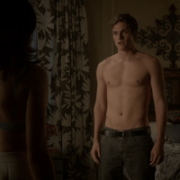 "Daniel Sharman as Issac Lahey shirtless in Teen Wolf 3×15 ""Galvanize"""