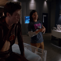 "Grant Gustin as Barry Allen/Flash semi-shirtless in The Flash 1x03 ""Things You Can't Outrun"""