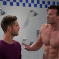 "Derek Theler as Danny Wheeler shirtless in Baby Daddy 4x03 ""She Loves Me, She Loves Me Note"""