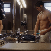 "Steven R. McQueen as Jimmy Borrelli shirtless in Chicago Fire 4×05 ""Regarding This Wedding"""