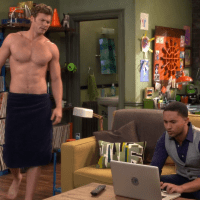 "Derek Theler as Danny Wheeler shirtless in Baby Daddy 5x01 ""Love And Carriage"""