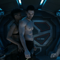 "Steven Strait as James ""Jim"" Holden shirtless in The Expanse 2x01 ""Safe"""