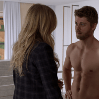 "Luke Mitchell as Roman shirtless in Blindspot 3x19 ""Galaxy of Minds"""