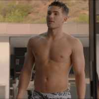 "Cody Christian as Asher shirtless in All American 1x08 ""All We Got"""