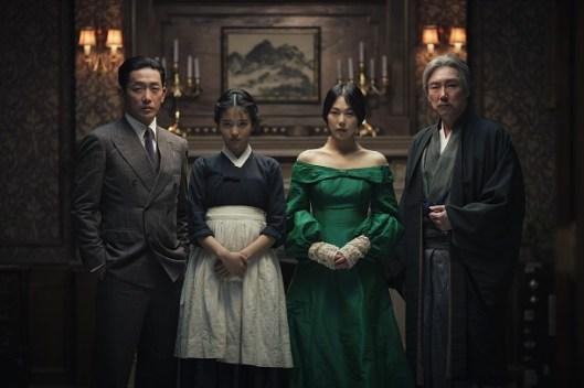 Count Fujiwara (Ha Jung-Woo), Sook-Hee (Kim Tae-ri), Lady Hideko (Kim Min-hee) and Uncle Kouzuki (Jo Jin-woong)