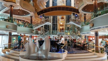 The Norwegian Dawn Attrium.