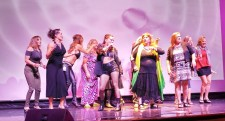 Gioia Bruno performing with the GLOW Girls.