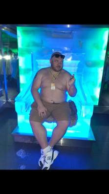 Christopher Annino proving Bostonians can handle the cold in the ice bar. Photo by Willie Fryson