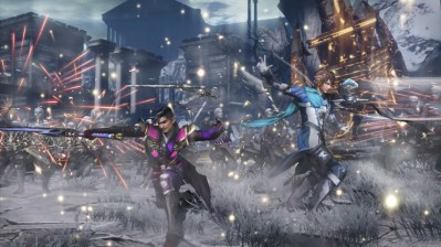 Warriors Orochi 4 Zhong Hui and Hidehisa Matsunaga fighting together