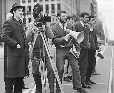 men filming in the old days