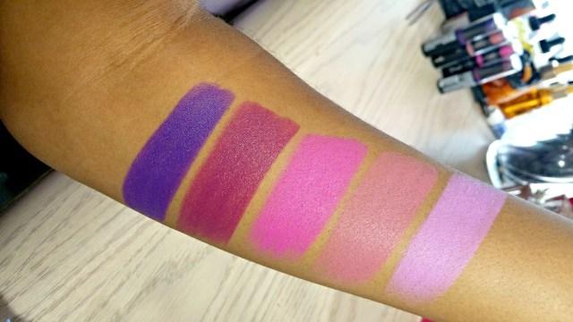 Ruby Kisses Purple Affair Plum Wine Fuchsia Fierce Nude Rose Lilac Matte Lipstick