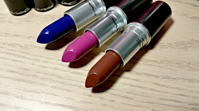 MAC Matte Royal, Stone, Men Love Mystery Lipstick Matte Lip Collection