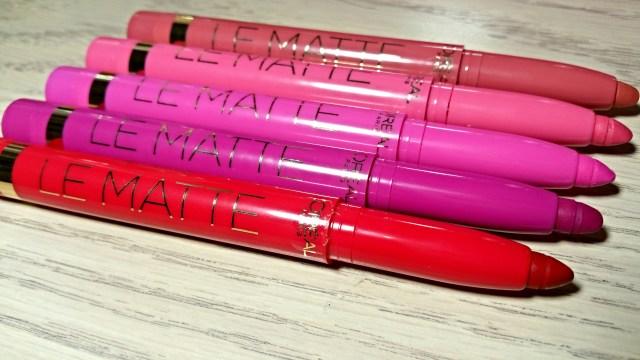 L'Oreal Mad for Matte, Matte-r of Fact, Matte for Me, Game, Set & Matte, She's So Matte