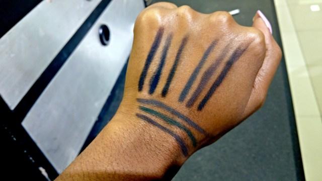 Bobbi Brown Midnight, Black Plum, Forest Intense Pigment Liner