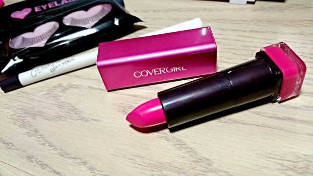 Covergirl 425 Bombshell Pink Colorlicious Lipstick and ColourPop Nevermind Lippie Pencil
