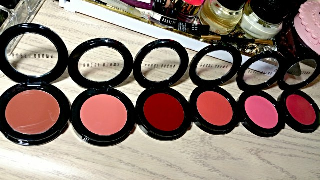 Bobbi Brown Milk Chocolate, Powder Pink, Chocolate Cherry, Rose, Pale Pink, Raspberry Pot Rouge for Lips and Cheeks