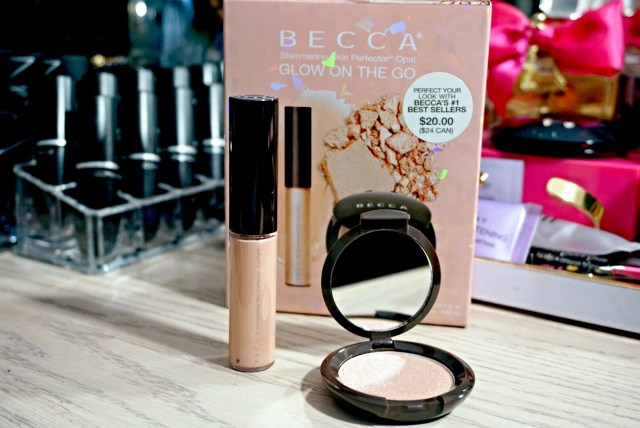 Becca Glow on the Go Set: Opal Shimmering Skin Perfector Spotlight, Opal Shimmering Skin Perfector Pressed