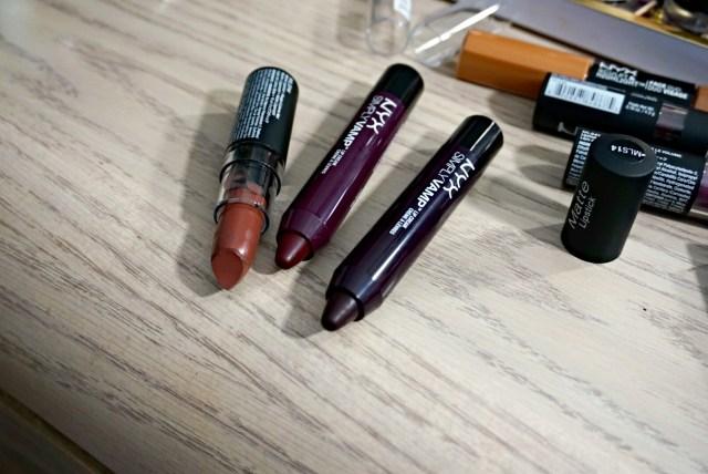 NYX Maison Matte Lipstick, NYX Bewitching Simply Vamp Lip Cream, NYX She Devil Simply Vamp Lip Cream