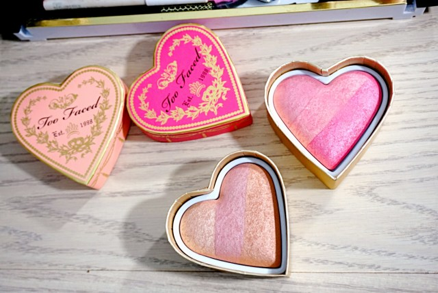 Too Faced Peach Beach and Something About Berry Sweethearts Perfect Flush Blush
