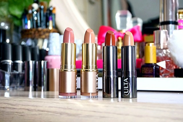 Ulta Beauty Collection 240 Pink Chocolate Nude Lipstick, 260 Sweet Mocha Nude Lipstick, 230 Chocolate Kiss Lipstick, 224 Coffee Break Lipstick