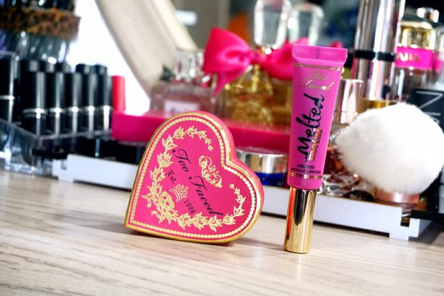 Too Faced Melted Metallic Dream House Lipstick + Something About Berry Sweetheart Blush