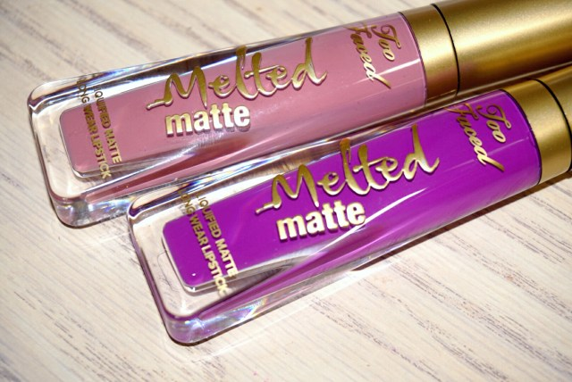 Too Faced Queen B and Unicorn Melted Matte Liquified Lipstick