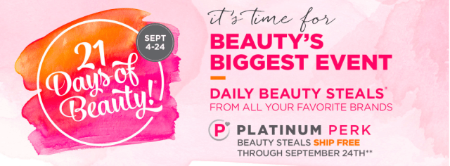 Ulta 21 Days of Beauty Fall 2016