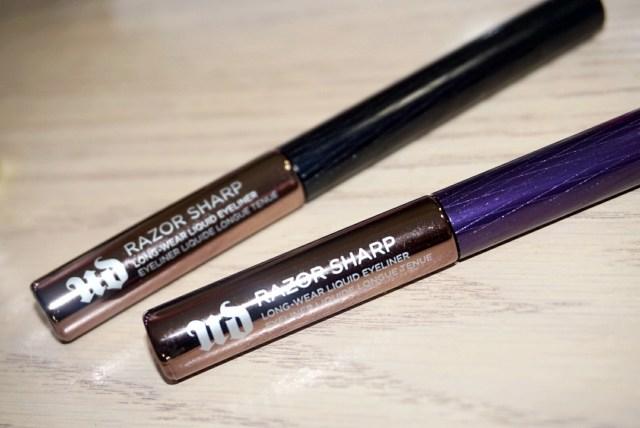 Urban Decay Razor Sharp Long-Wear Liquid Eyeliner in Perversion and Retrograde