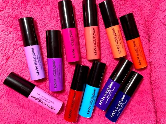 NYX Liquid Suede Cream Lipstick Vault Swatches on Dark Skin