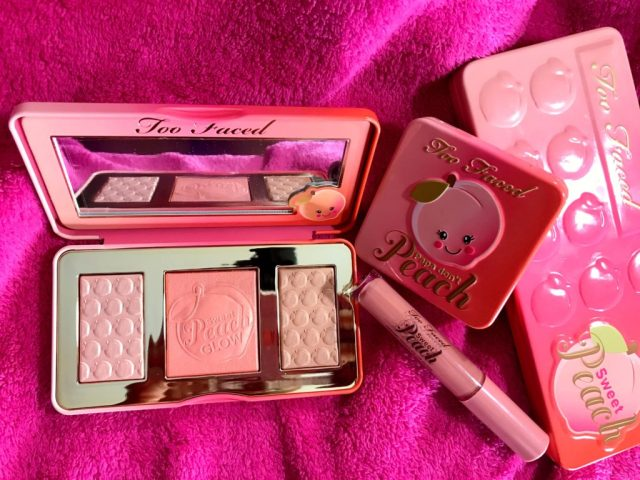 Too Faced Sweet Peach Collection Swatches on Dark Skin