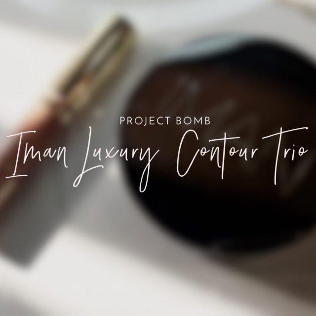Project BOMB: Iman Luxury Contour Trio Swatches on Dark Skin