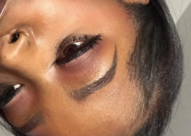 NYX Lid Lingerie Shadow Palette First Impressions Swatches Dark Skin