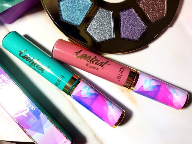 Tarte Fairytale and Festival Quick Dry Matte Lip Paint Swatches on Dark Skin