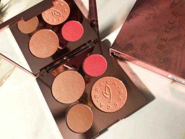 Becca x Chrissy Teigen Glow Face Palette Swatches Review on Dark Skin