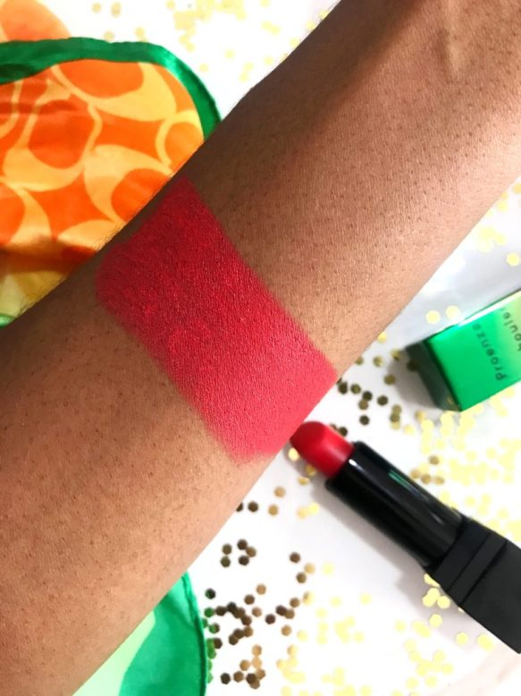 MAC Mangrove Lipstick Review Swatches on Dark Skin